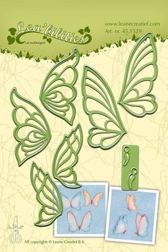 Leane Creatief Stanz-u. Prägeform Schmetterlinge 45.1529 ( hell-grün )