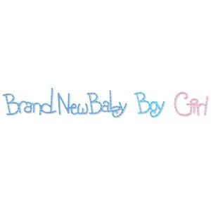 "Sizzix Stanzform Sizzlits Border Worte "" Brand New Baby, Boy, Girl "" 655333"