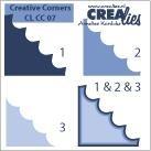 Crealies Ecke # 7 / creative corners # 7 (hell-blau )CLCC-07