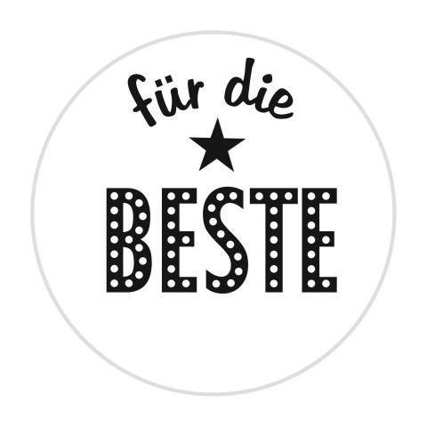 """KnorrPrandell Holz-Stempel rund """"für die BESTE """" 211803007"""