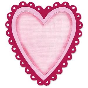 Sizzix Stanzform Originals LARGE Rahmen Herz / frame heart 655459