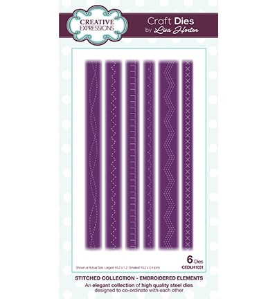 Creative Expressions Stanzform Embroidered Elements CEDLH1031
