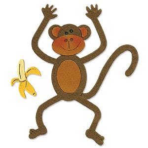 Sizzix Stanzform BIGZ BIGZ Affe / monkey 655356