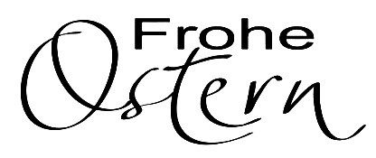 JM-Creation Stempelgummi ' Frohe Ostern ' 20733