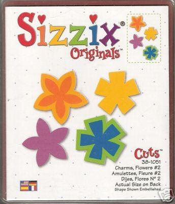 Sizzix Stanzform Originals LARGE Blumen # 2 / charms flowers # 2 38-1051