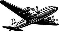 Tim Holtz Holz-Stempel Airliner / Flugzeug M1-1652