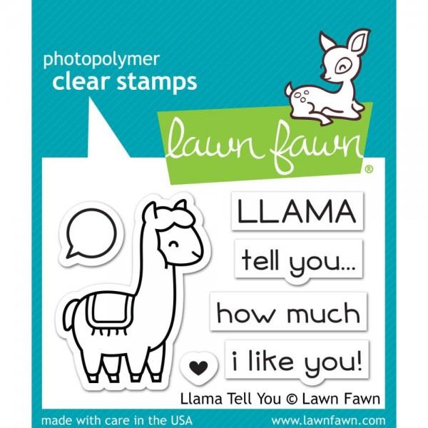 Lawn Fawn Clearstempel-Set Llama Tell You LF1678