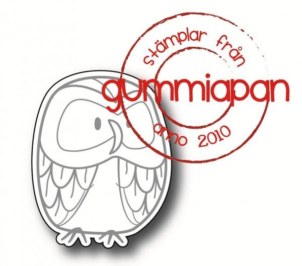 Gummiapan Stanzform Eule Greger groß / Stor Greger D190109