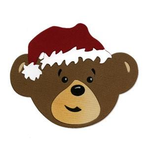 Sizzix Stanzform BIGZ Weihnachtsbär mit Nikolausmütze / Christmas Bear Boy Head 656316