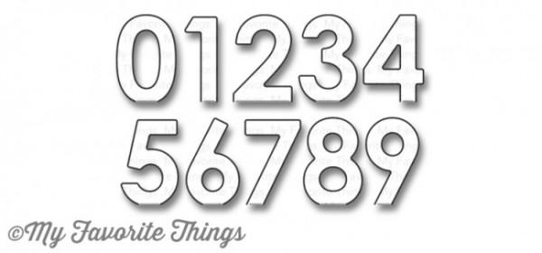 Dienamics Stanzform Pop-Up Zahlen / Pop-Up Numbers MFT-1172
