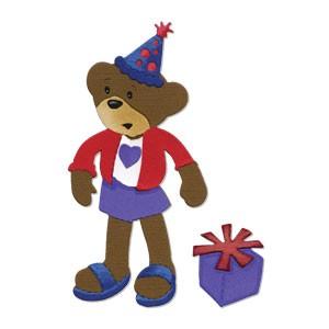 Sizzix Stanzform BIGZ Build a bear Party Bär / party bear 656315