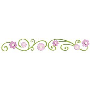 Sizzix Stanzform Sizzlits Border Blumen mit gewellten Stengel 655958