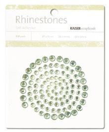 Rhinestones / Glitzersteine selbstklebend MINT-GRÜN SB707