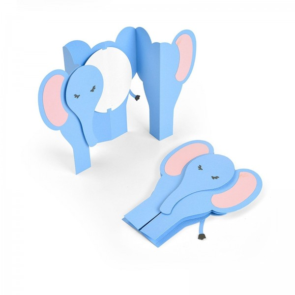 Sizzix Stanzform Thinlits Card Elephant Fold-a-Long 663604