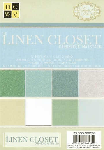 Papierblock Linen Closet Cardstock 11,4 x 16,5 cm MS-003-00056