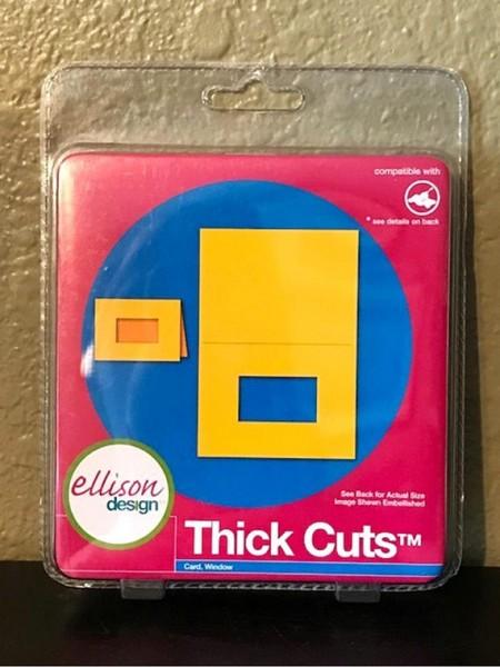Ellison Design Thick Cuts Stanzform Karte viereckig mit Ausschnitt 22210
