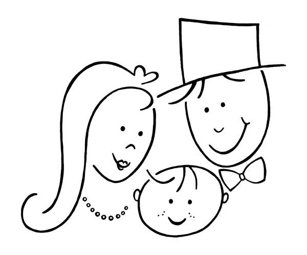 Stempel Hochzeitspaar u. Kind 1827845