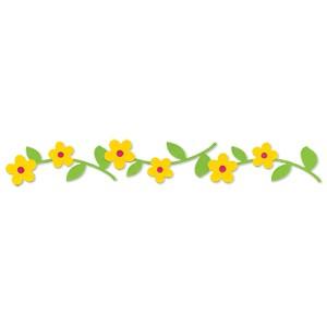 Sizzix Stanzform Sizzlits Border Hello Kitty Blumen mit Stengel u. Blätter 655884