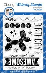 Whimsy Stamps Clear Stempel Geburtstags-Luftballon / Birthday Balloon CWSS131