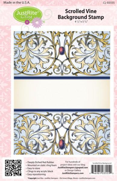 JustRite Cling Stempel Scrolled Vine Background Stamp CL-03555