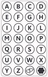 Prägefolder exclusiv Alphabet groß / Alphabet CTFD3011