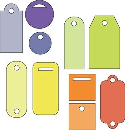 Cuttlebug Stanzform 4-er Set KLEIN Anhänger klein / tiny tags 37-1222