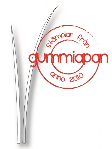 Gummiapan Stanzform Grashalme / Gräs D180701