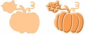 Cuttlebug Stanzform u. Prägefolder MEDIUM Kürbis / pumpkin spice Stanz-und Prägeform 37-1822