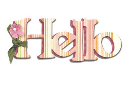 "Sizzix Stanzform Originals MEDIUM "" Hello "" phrase Hello 656569"