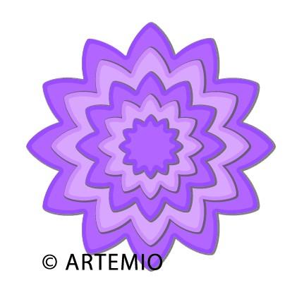 Artemio Happycut Stanz-u.Prägeformen Blumen eckig 18043012