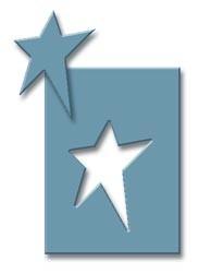 EK Success Hebel-Motivstanzer SMALL Stern länglich / folk star PSP29C ( blau-grau )