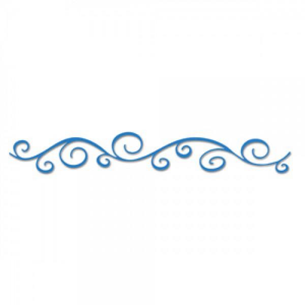 Sizzix Stanzform Sizzlits Border Swirl 654774