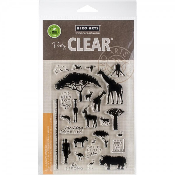 Hero Arts Clearstempel-Set Safari Wild About You CM218