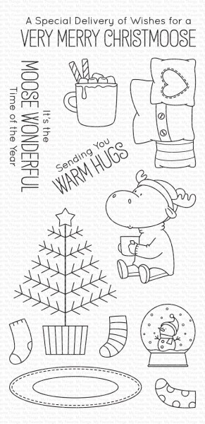 My Favorite Things Clearstempel-Set Elch / Merry Christmoose BB-86