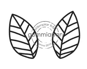 Gummiapan Stempelgummi Blätter klein / Sma Blad 11120108
