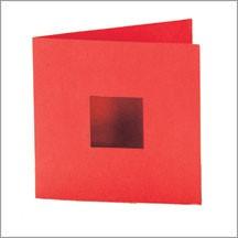 Allstar BIGZ Stanzform Karte quadratisch mit Fenster / card square w/window A 10326