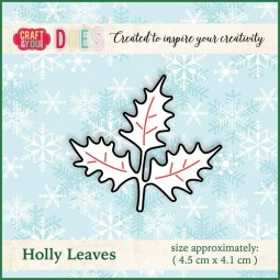 CraftandyouDesign Stanzform Stechpalmenblätter / Holly Leaves CW014