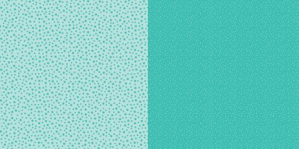 Dini Design Scrapbook-Papier Punkte / Blumen Mintgrün ( hell-türkis ) 2004