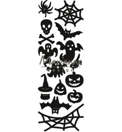 Marianne D Craftables Spinne, Gespenst, Kürbis, Fledermaus,Hexenhut, Schädel / Halloween CR1450