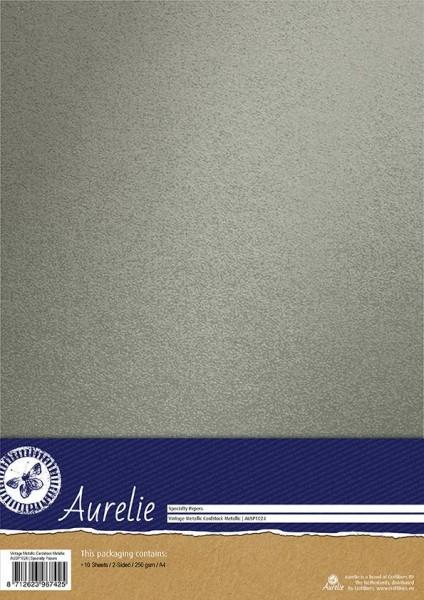 Aurelie Vintage Metallic Cardstock A 4 METALLIC AUSP1024
