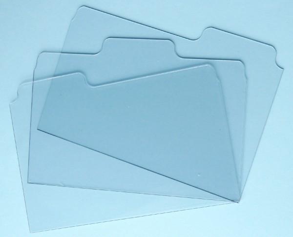 """Acryl Tab-Folder durchsichtig 5 """" x 7 """" (3 Stück ) 2794"""
