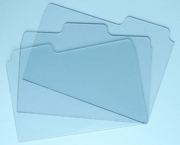 "Zutter Acryl Tab-Folder durchsichtig 5 "" x 7 "" (3 Stück ) 2794"