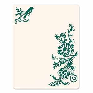 Sizzix Letterpress Platte large Rustic Elegant Flowers 657 075