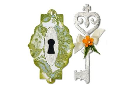 Sizzix Stanzform BIGZ Schlüssel & Schlüsselloch / Key & Keyhole 656562