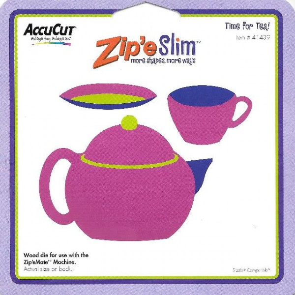AccuCut Zip' e Slim Stanzform Teekanne + Teetasse / Time for Tea 41439