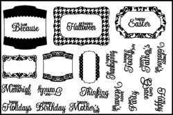Stamping Scrapping Clear Stamps Label Accent 3021