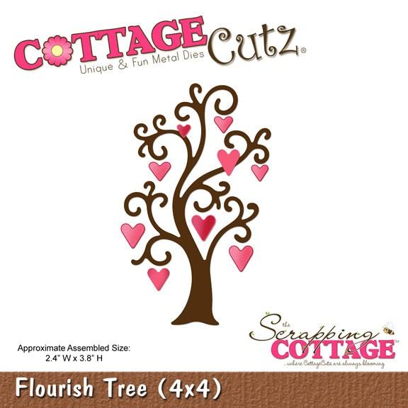 Floraler Baum mit Herzchen / Flourish Tree SC CC4x4-316