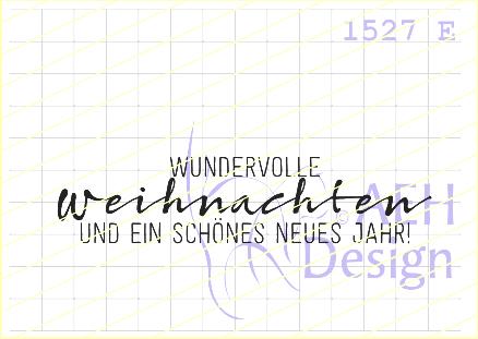 AEH Design Textstempel ' Wundervolle Weihnachten und ein schönes neues Jahr ' 1527 E