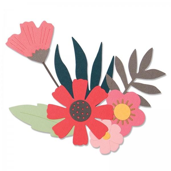 Sizzix Stanzform Thinlits Blumen / Free Style Florals 663437