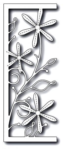 Memorybox Stanzform Astern mit Nähnaht / Stitched Aster Panel 99687